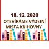 Logo 18. 12. otevíráme výdejní místa knihovny